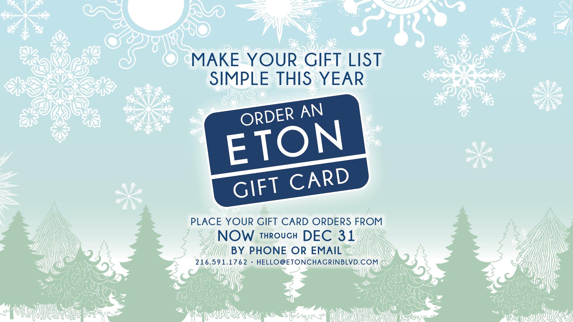 Eton Gift Cards