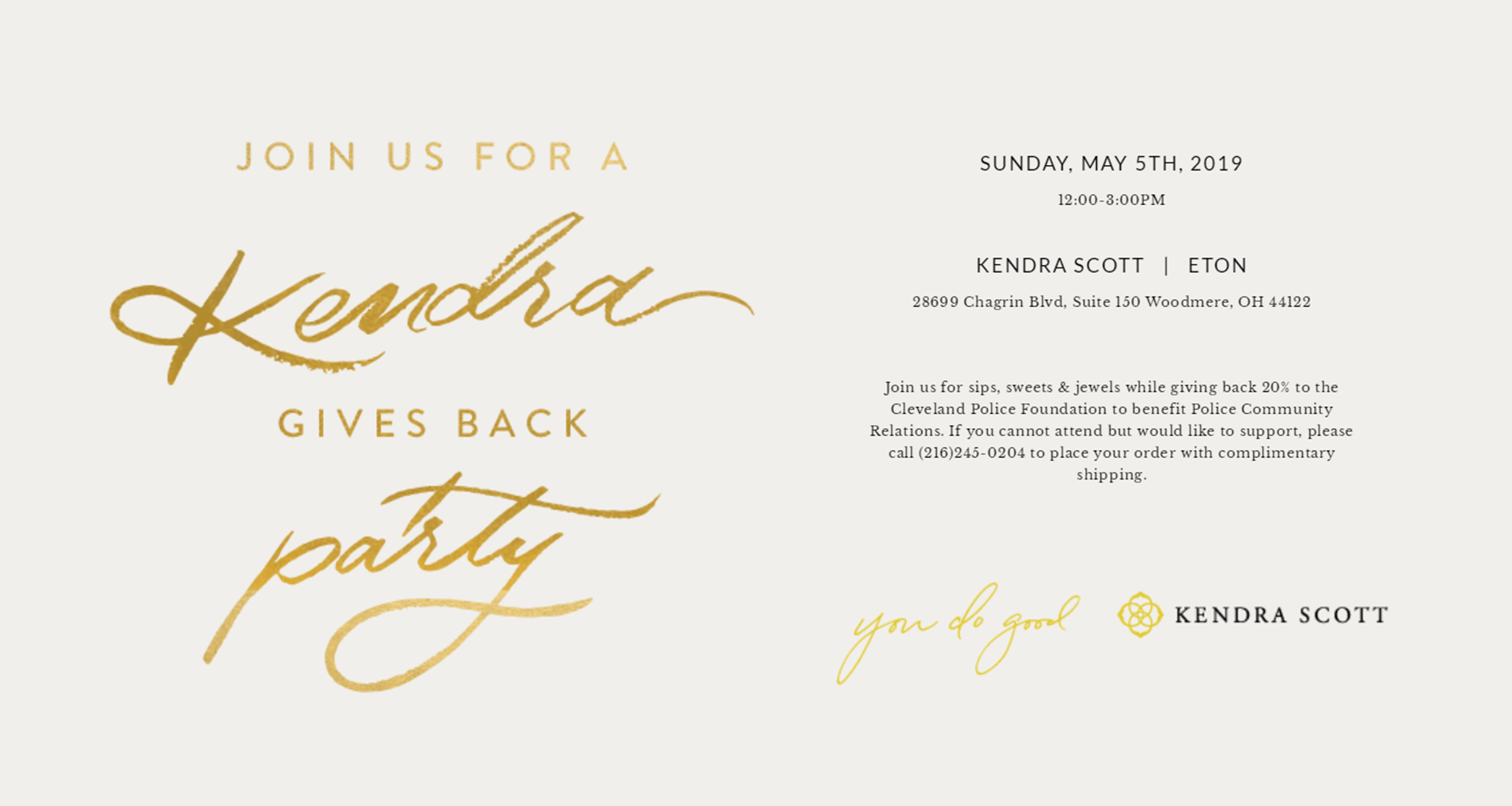Brunch With Blue at Kendra Scott